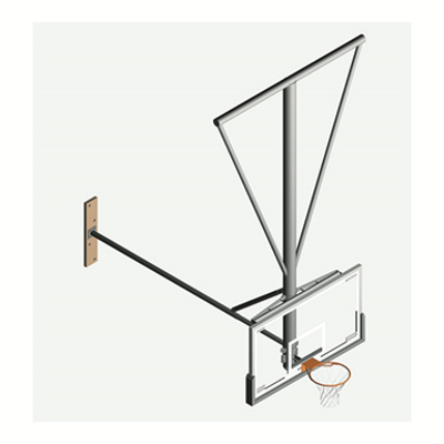 Image for TS-22 Ceiling-Suspended Stationary Basketball Backstop