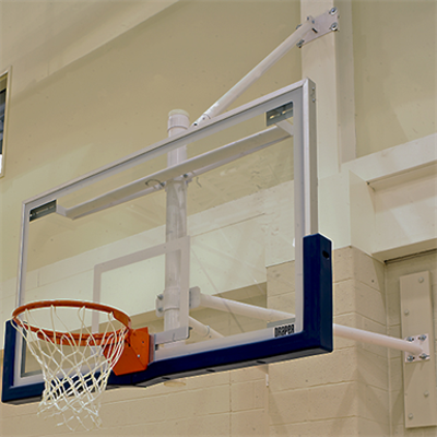 Image for SW Wall Mounted Stationary Basketball Backstop
