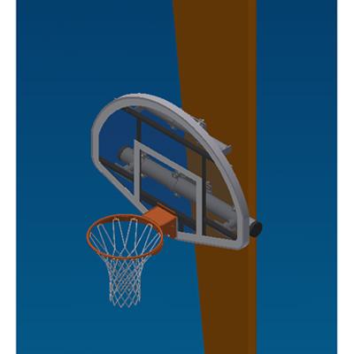 Image for CM Column Mounted Stationary Basketball Backstop