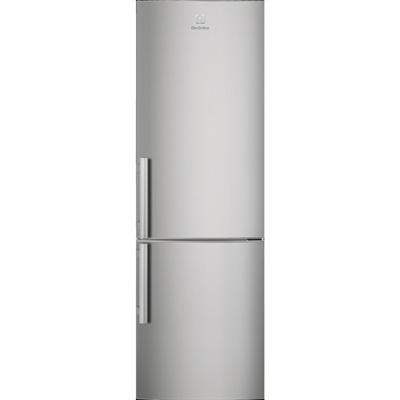 Image for Electrolux FS Fridge Freezer Bottom Freezer Silver+Stainless Steel Door with Antifingerprint 595 1845