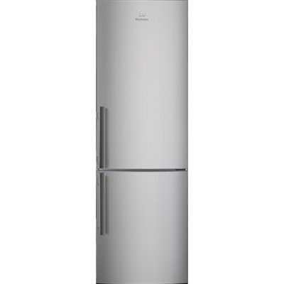 Image for Electrolux FS Fridge Freezer Bottom Freezer Grey+Stainless Steel Door with Antifingerprint 595 1745