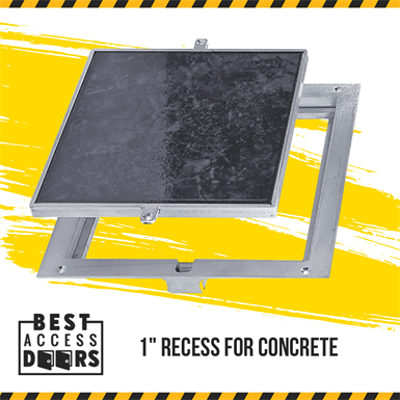 """Image for Removable Floor Hatch Recessed 1"""" for Concrete Access Door"""