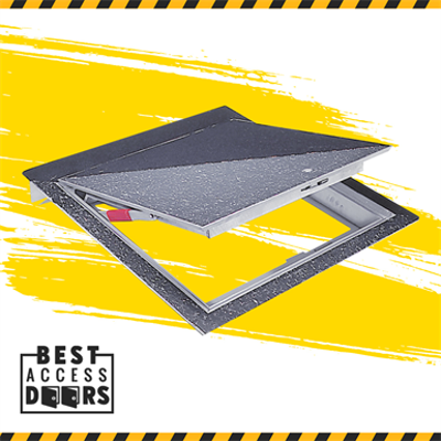 "Image for Hinged Floor Hatch Recessed 1/8"" for Vinyl Tile/Carpet Access Door"