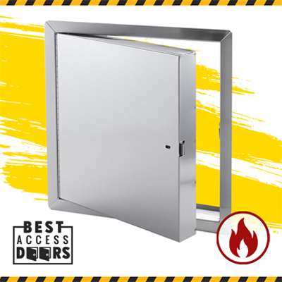 Image for Fire Rated Access Panel Insulated in Stainless Steel - Best Access Doors for Drywall