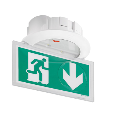 Image for URA PRACTICE self-contained emergency lighting autotest-addressable spotlight for ceilling