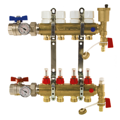 Image for C342A÷C3502A - UNDERFLOOR HEATING MANIFOLDS WITH FLOWMETERS