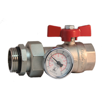 Image for 422M - BALL VALVE WITH PIPE UNION AND THERMOMETER