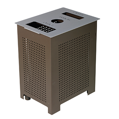 Image for Rekta, litter bin with 3 openings for recycling