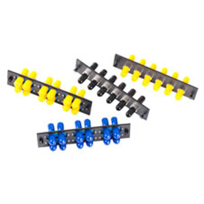 Image for ST Adapter Plates, 6, 8, 12-Port, ST, SC, DSC, FC, MTRJ, LC and Others