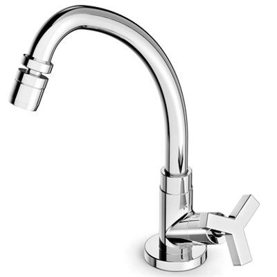 Image for UP deck sink tap swivel spout