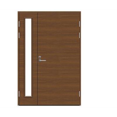 Image pour Exterior Door Function F2090+AL1200 W69 Veneered Double Unequal
