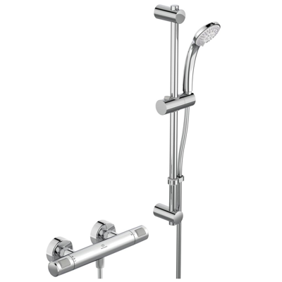 Image for CERATHERM T20 SHOWER MIXER EXPOSED OFFSET & SHOWER SYSTEM 600