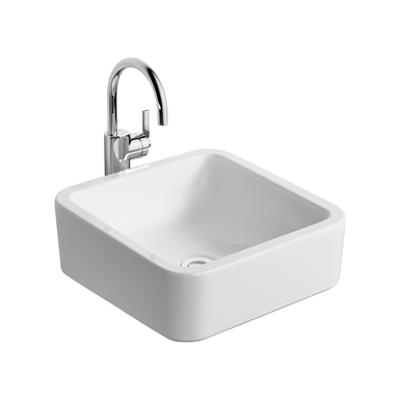 Image for White Cube 40cm Vessel Washbasin, No Taphole