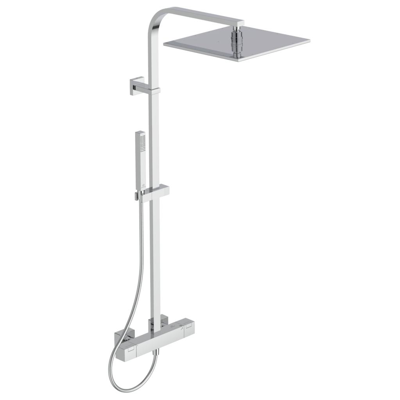 Image for CERATHERM C100 SHOWER MIXER EXPOSED OFFSET & SHOWER SYSTEM SQUARE