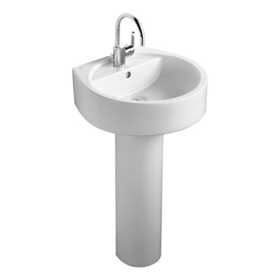 Image for White 50cm Washbasin, 1 Taphole