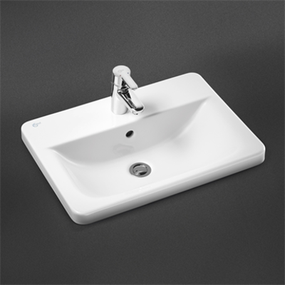 Image for Concept Cube 58cm Countertop Washbasin 1 Taphole