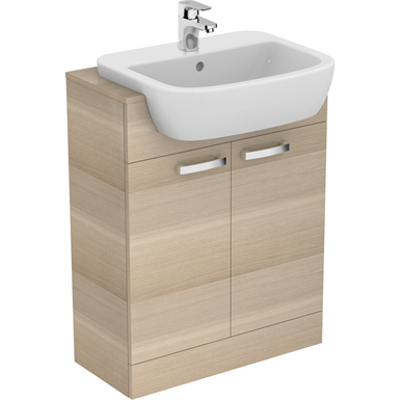 Image for P_Tempo 55cm Semi-countertop Washbasin, 1 Taphole