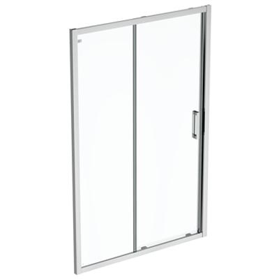 รูปภาพสำหรับ CONNECT 2 SLIDER DOOR 130 CLEAR GLASS BRIGHT SILVER FINISH