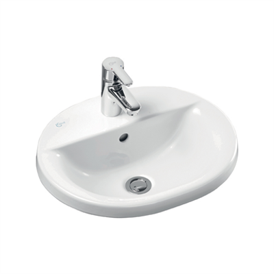 Image for Concept Oval 48cm Countertop Washbasin 1 Taphole