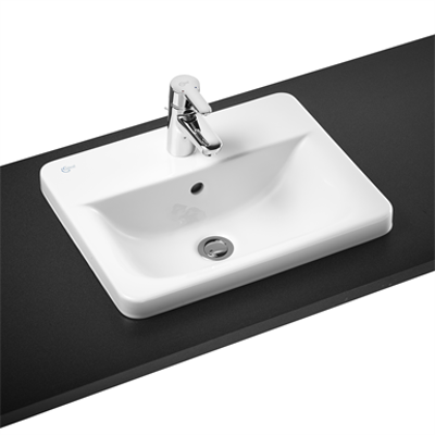Image for Concept Cube 50cm Countertop Washbasin 1 Taphole