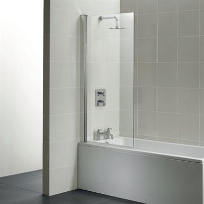 kuva kohteelle Synergy Angle Shower Bath Screen, Clear Glass