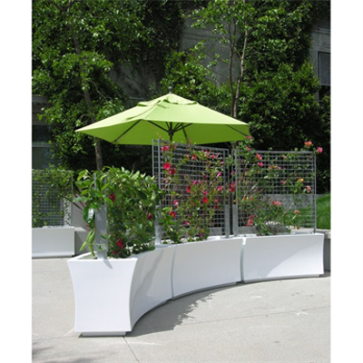 Image for greenscreen®:  Cafe Series™ Planters with Trellis Panels