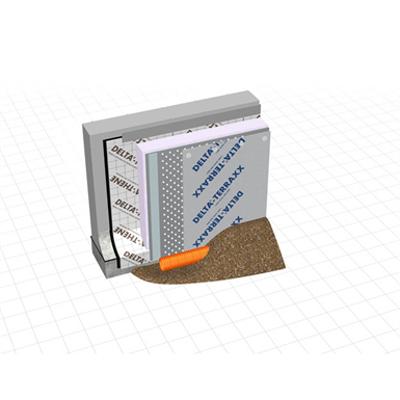 Image pour Paroi enterrée de cave en béton avec DELTA®-THENE (Valeur U: 0.325 W/m²•K)