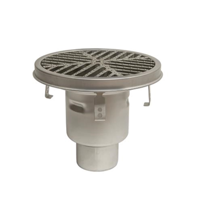 Image for BFD-570 - HygienicPro® Processing Drain w/12in. Round Top, Bottom Outlet