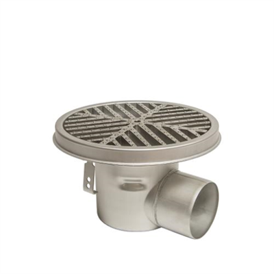 Image for BFD-570-SO - HygienicPro® Processing Drain w/12in. Round Top, Side Outlet