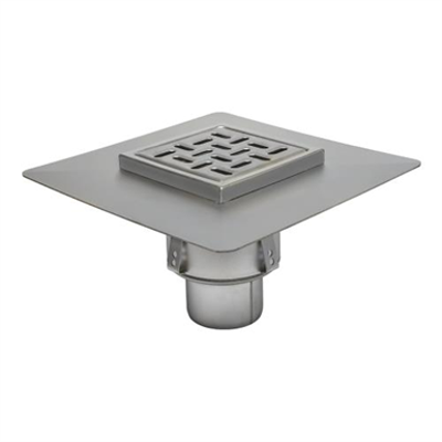 Image for BFD-550 - Sanitary Floor Drain w/8in. x 8in. Square Top, Elastomeric Flange