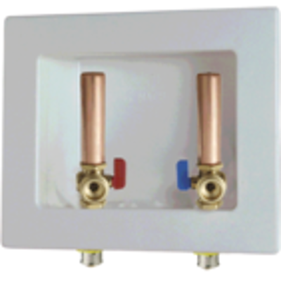Image for PEX Press Outlet Box, Zero Lead, For Washing Machine