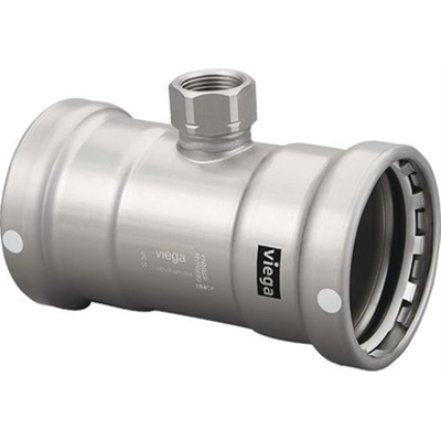 Image for MegaPress Tee XL - Carbon Steel - FKM - P x P x FPT