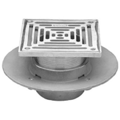 """Image for Z1727 5"""", 6"""" or 8"""" Square Top Adjustable Medium-Duty Floor Drain"""
