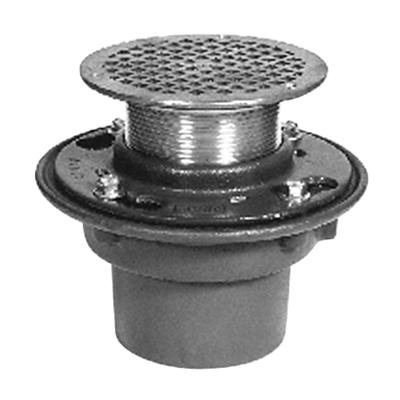 画像 Z415B-NH Floor and Shower Drain, Z415 Body Assembly with Type B Strainer, No-Hub Outlet