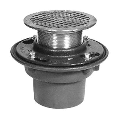 画像 Z415B-IC Floor and Shower Drain, Z415 Body Assembly with Type B Strainer, Inside Caulk Outlet