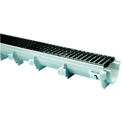 """Image for Z886-HD 6-3/4"""" Wide Reveal Trench Drain System with Heavy-Duty Frame Assembly"""