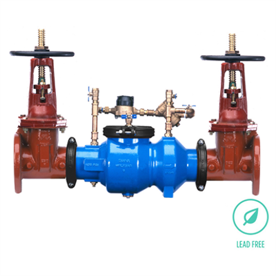 """Image pour 350ADA Double Check Detector Backflow Preventer, 2-1/2"""" to 10"""", Lead-Free*"""