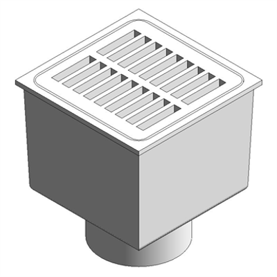 "Image for Z1910 8"" x 8"" A.R.E Sani-Flor Receptor with 6"" Sump Depth"