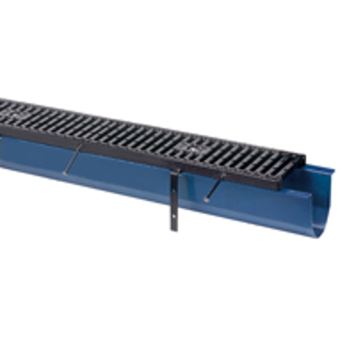 """Image for Z806 6"""" Wide Reveal Fiber Reinforced Polymer Trench Drain System with Steel Frame"""