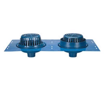 """画像 Z164 12"""" Diameter Combination Main Roof and Overflow Drain with Low Silhouette Domes and Double Top-Set® Deck Plate"""