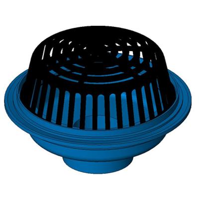 """画像 Z100 15"""" Diameter Main Roof Drain with Low Silhouette Poly-Dome"""
