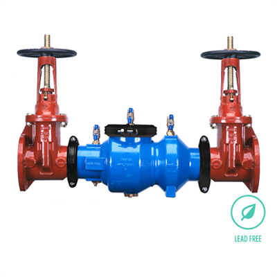 """Image for 350A Double Check Backflow Preventer, 2-1/2"""" to 10"""", Lead-Free*"""