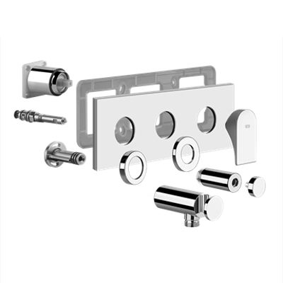 Image for EMPORIO - External parts for two-way shower mixer with diverter - 49040