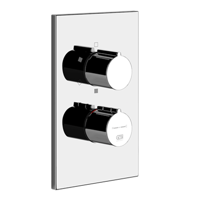 Image for EMPORIO - External parts for thermostatic mixer, three-way diverter - 38796