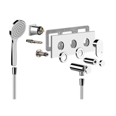 Image for EMPORIO - External parts for two-way shower mixer with diverter - 44922