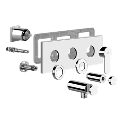 Image for EMPORIO - External parts for two-way shower mixer with diverter - 47238