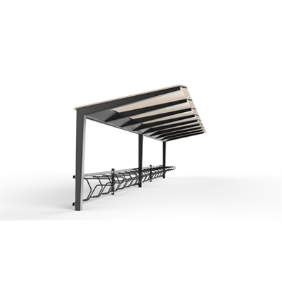 Image for LIGHT Bicycle shelter 4m 8 bicycles