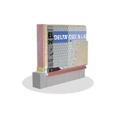 Image for DELTA®-DRY & LATH Ventilated rainscreen with pre-installed glass lath for Absorptive Claddings
