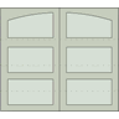 """Image for Design 301 Sectional Overhead Steel Garage Doors, 84"""" or 96"""" Height, 96"""", 108"""", 120"""", 192"""" and 216"""" Widths"""