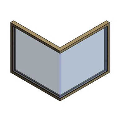Image for MB-86 AERO Corner Window with Structural Glazing